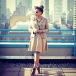 Zara Blazer, H&M Faux Fur Wrap, Club Monaco Dress, Vintage Chanel Pin, Oliver Peoples Sunglasses, Vince Camuto Ankle Boots