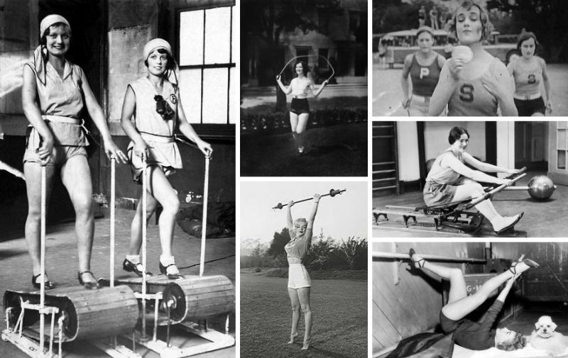 vintage ladies workout