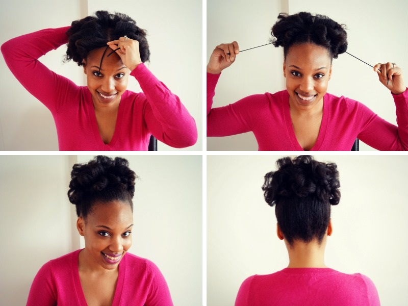 Curly Natural Hair Updo Hask Argan Oil Hair Treatment Review