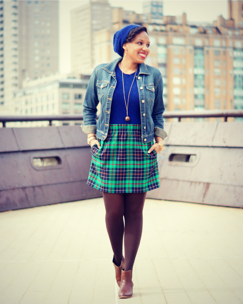 March Plaidness Plaid Blanket Scarf Tartan Mini Skirt