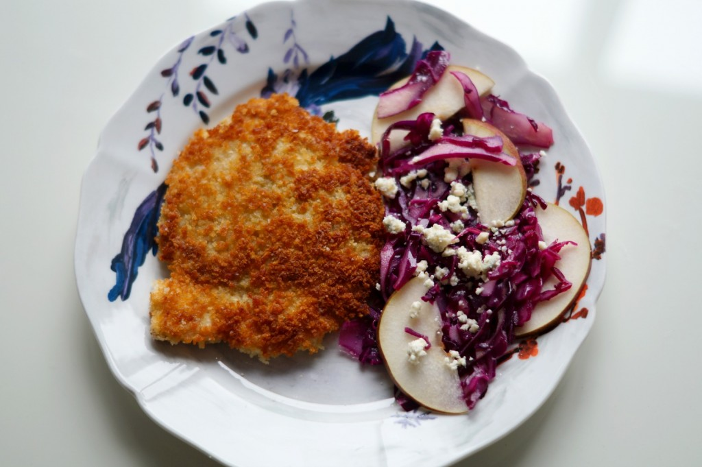 plated-chicken-schnitzel
