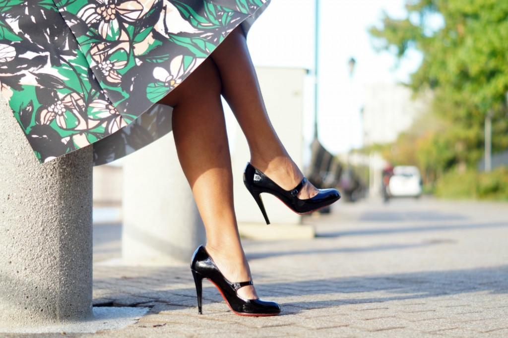 H&M Printed Midi Skirt