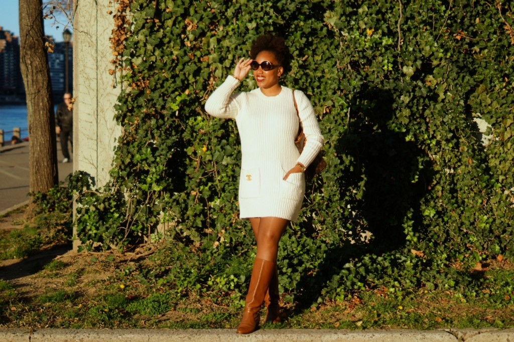 Forever 21 Cream Sweater Dress