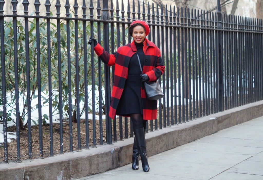 10f07fac6561 Black   Red  Buffalo Plaid Jacket  - Closet Confections