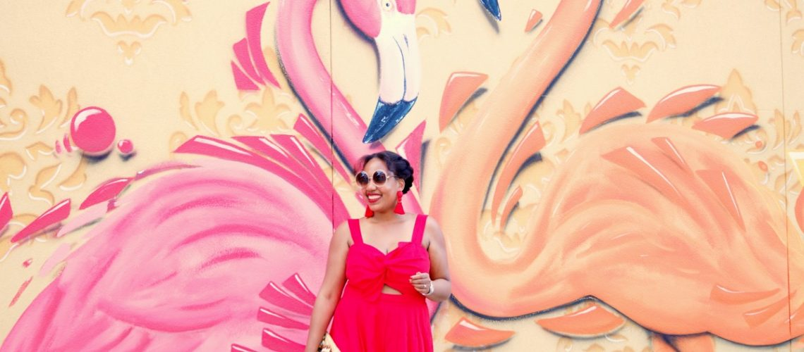 Flirty Red Summer Dress from Asos, NYC Fashion Blogger, Graffiti Wall Art, Wall Traveled