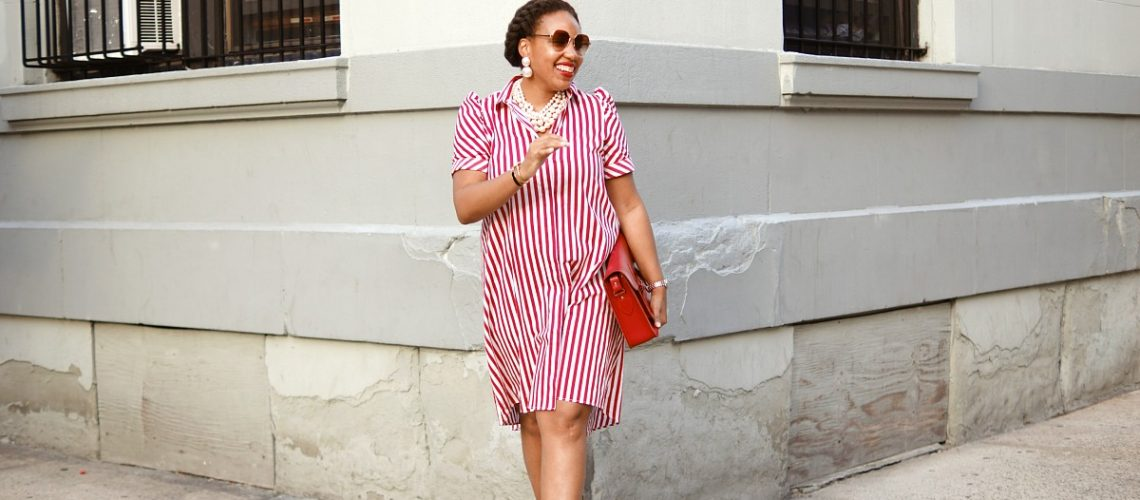 Fall Transitional Pieces, Strip Zara Shirt Dress, NYC Fashion Blogger, Closet Confections