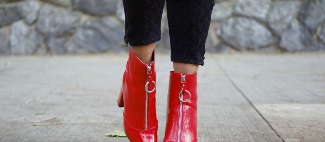 how to wear red ankle boots, nyc fashion blog, closet confections