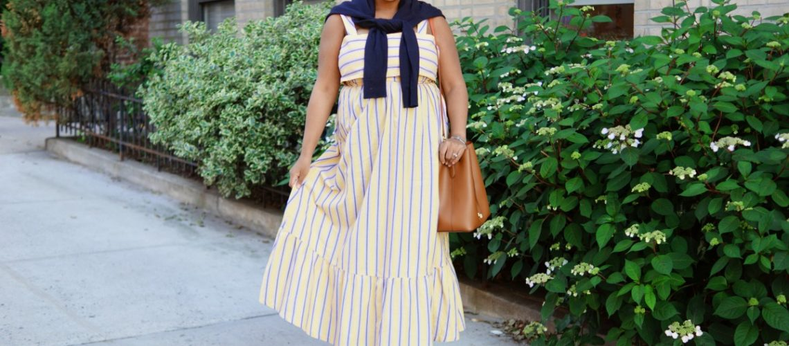 Asos Yellow Stripe Maxi Dress, nyc fashion blogger, mommy fashion, mommy blogger