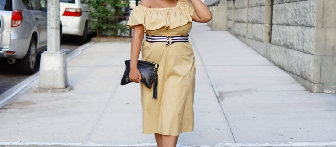 target style, who what wear, closet confections, fashion blogger, off-shoulder midi dress