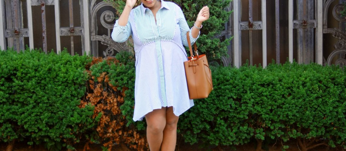 zara stripe shirtdress, nyc fashion blogger