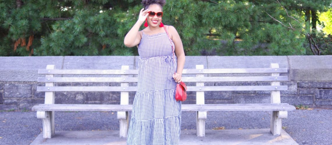 preppy fashion blogger, nyc fashion blogger, old navy maxi dress, gingham maxi dress
