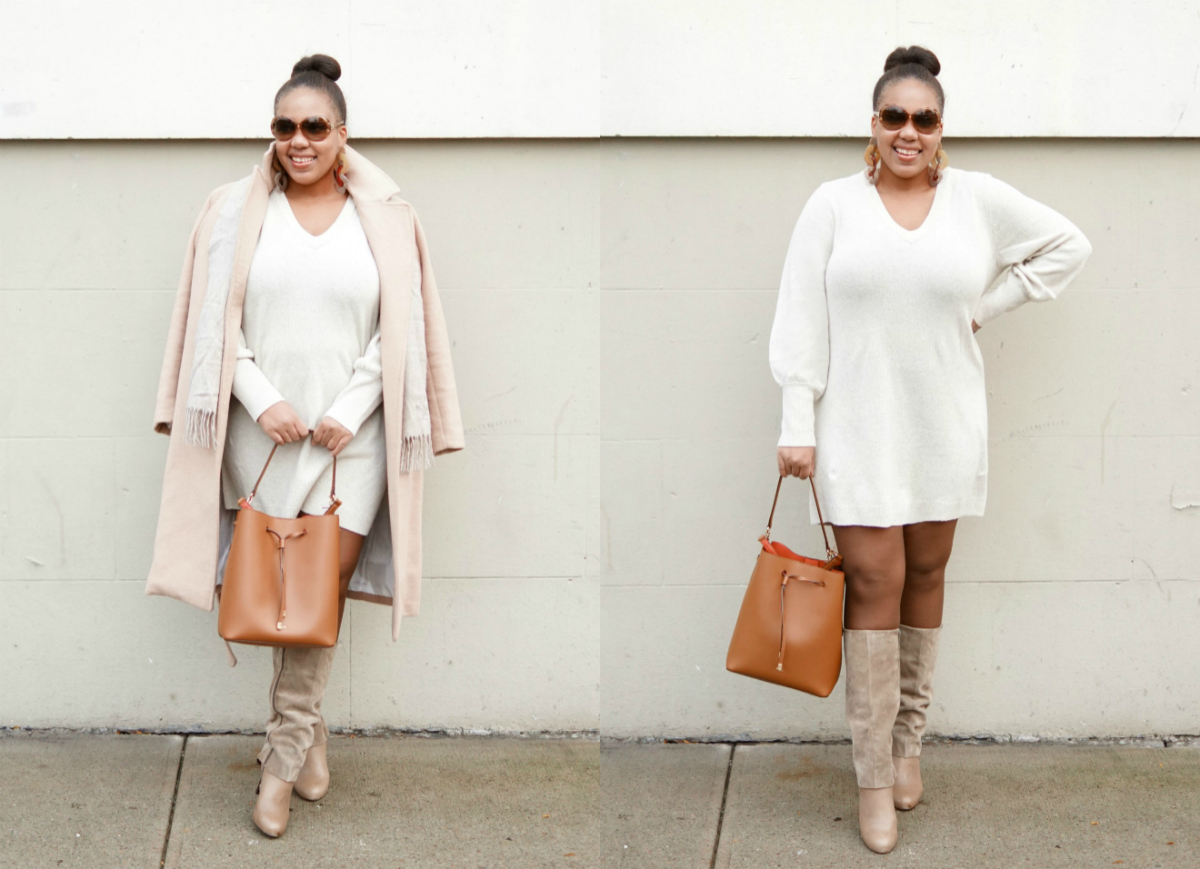 how to wear neutrals, nyc fashion blogger, closet confections, madewell sweater dress