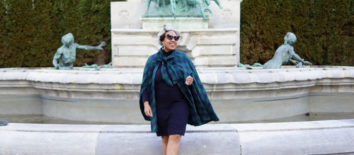shein plaid cape, shein cape, plaid cape, nyc fashion blogger, closet confections